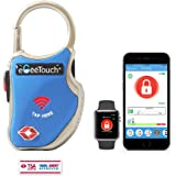 eGeeTouchスマートトラベルロック 旅行用TSAロック搭載南京錠 スマホやスマートウォッチで鍵や暗証番号不要