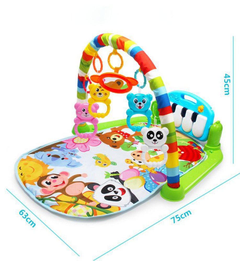 BZ Infant 0-18 mesi cremagliera per il fitness musicale per neonati Pianoforte a pedale per la musica per bambini. Giocattoli educativi per bambini,Foto a colorei,Taglia unica