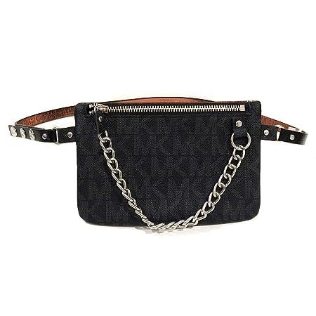 fe042ff0f0f7 New Michael Kors Women's Black MK Chain Belt Bag Purse Wallet Bumbag -  554131C (Medium): Amazon.co.uk: Luggage