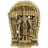 Gangesindia Lord Vishnu in Cosmic Magnification - Brass Sculpture