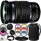 Olympus M.Zuiko Digital ED 12-100mm f/4 IS PRO Lens 10PC Accessory Bundle – Includes 3PC Filter Kit (UV + CPL + FLD) + 6PC Graduated Filter Kit + MORE