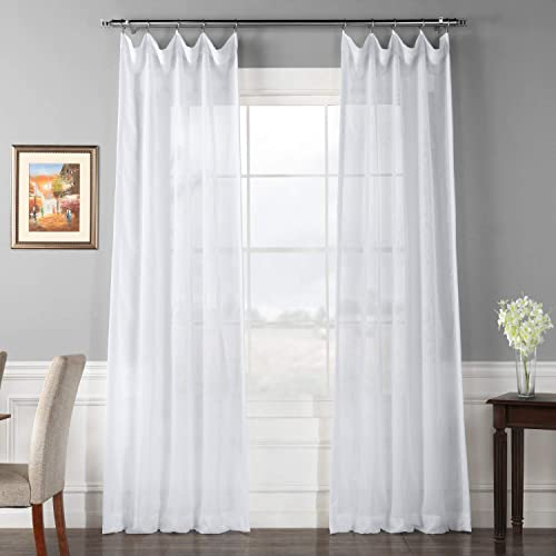 HPD Half Price Drapes SHCH-VOL1-96-DLSW Signature Double Layered Sheer Curtain 1 Panel