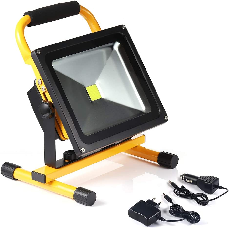 Projecteur Chantier Solaire LED Projecteur LED Rechargeable 60 W 3600lm S/écurit/é Rechargeable Work Light Imperm/éable /à leau IP54 Avec Le Port DUSB de 5V 2.1 a et Le Mode de SOS pour Camping