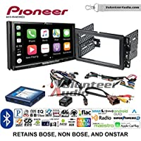 Volunteer Audio Pioneer AVH-W4400NEX Double Din Radio Install Kit with Wireless Apple CarPlay, Android Auto, Bluetooth Fits 2007-2013 Silverado, Avalanche (Onstar and Bose)