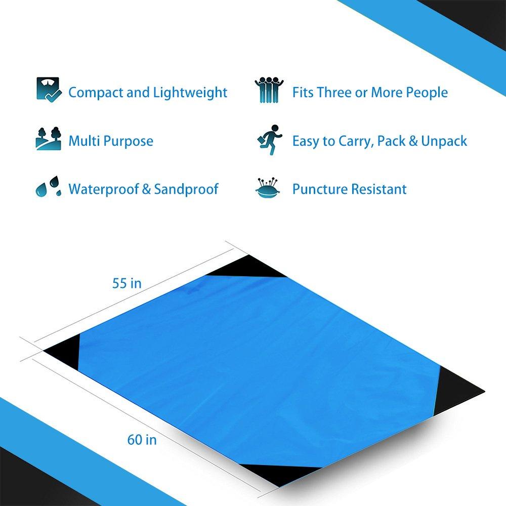 Illumifun Pocket Blanket Compact Picnic Beach Outdoor (60\