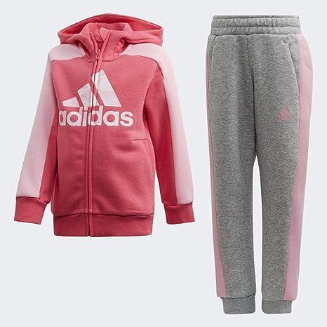 Lo siento laringe Medieval  adidas Kid's LK GFX HDY SET Tracksuit, Real Pink S18/Medium Grey  Heather/Light Pink, 6-7Y: Amazon.co.uk: Clothing