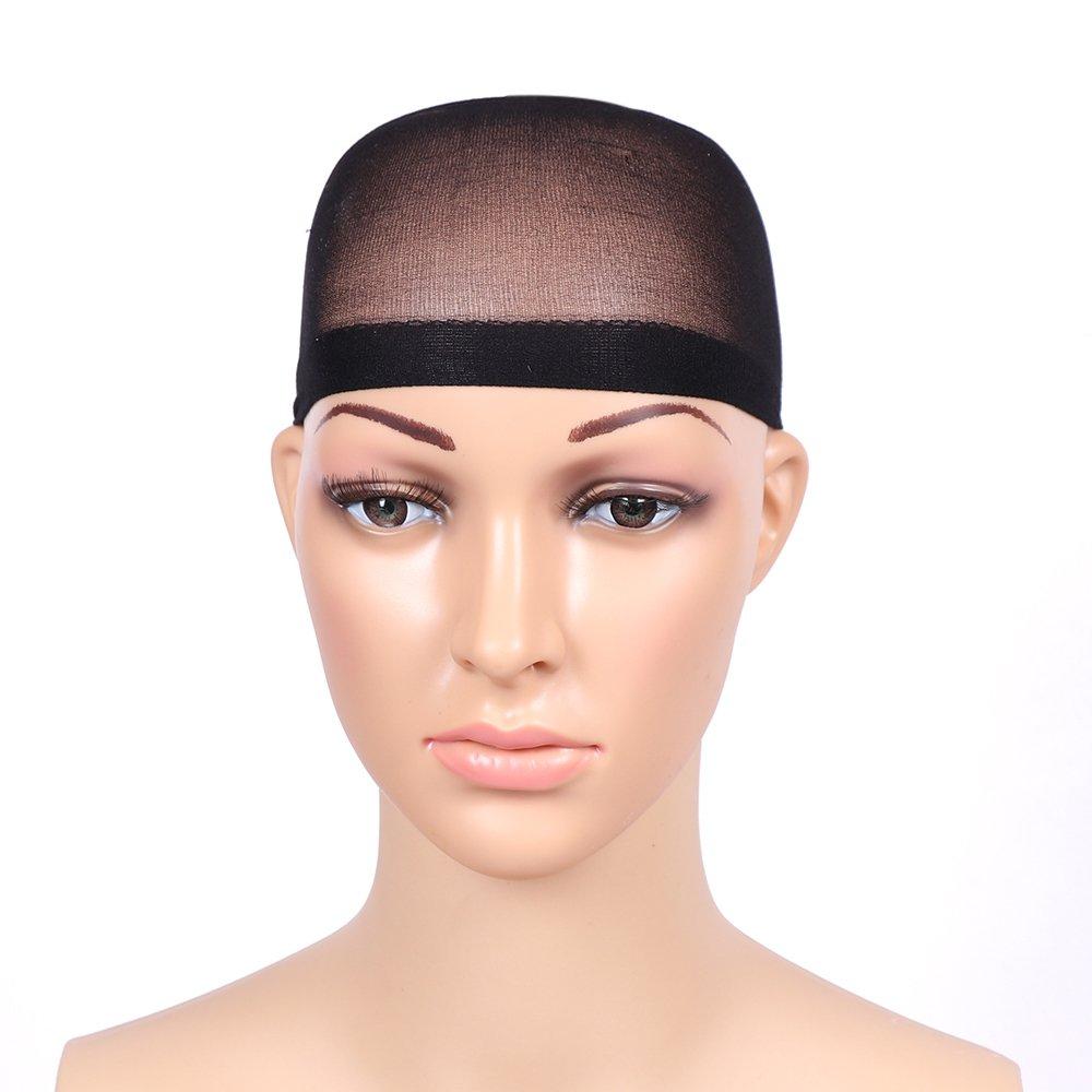 Fani 5 Pieces Nylon Wig Caps Natural Nude Beige and Black Color Stretchy Close End Wig Caps Black Mesh Open end Wig Caps