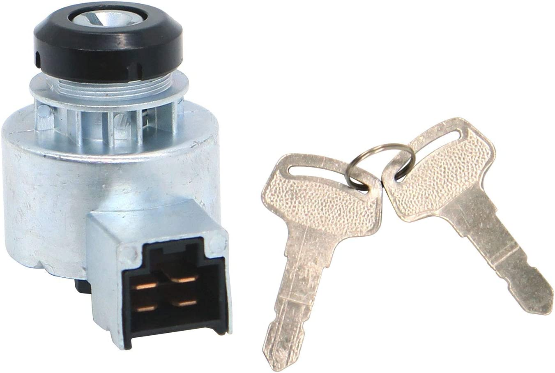 Notonmek E-6C040-55452 Ignition Switch with 2 Keys 6C040-55452 6C040-55450 Fits for Kubota Tractor B1700 B2100 B2320 B2400 B2410 B2620 B2630 B2710 B3200 B7400 B7500 B7510 B7610 B7800