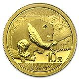 2016 CN China 1 gram Gold Panda BU (Sealed) Gold Brilliant Uncirculated