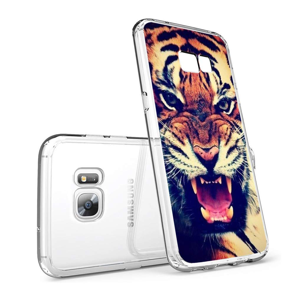Amazon.com: Tiger Samsung Galaxy S7 Case Transparent and ...