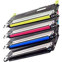1 Set of 4 Inkfirst® High Yield Toner Cartridges CLT-K409S, CLT-C409S, CLT-M409S, CLT-Y409S Compatible Remanufactured for Samsung CLP-315 Black, Cyan, Magenta, Yellow CLP-310 CLP-315 CLP-315W CLX-3170 CLX-3175FN CLX-3175FW