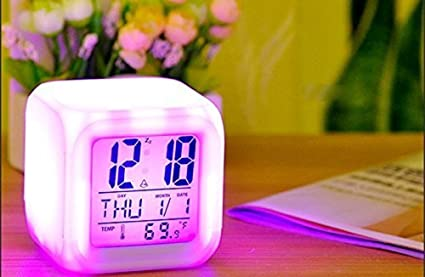 Cutest New Arrival Colour Changing Table Alarm Clock, Kids Room Decor (01 Pc.)