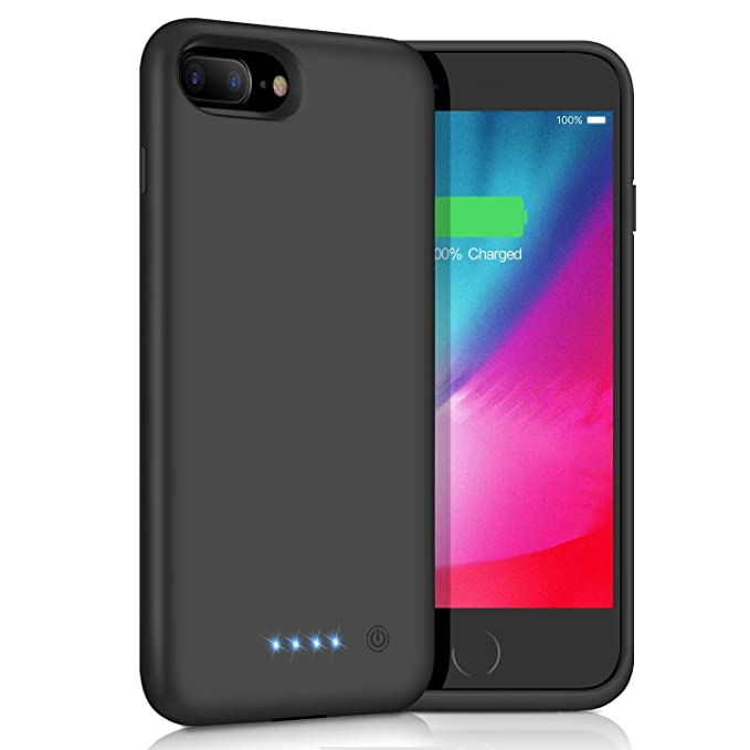 Kilponen Akku Hülle für iPhone 8 Plus/7 Plus/6 Plus/6S Plus,[8500mAh] Externe Ladebatterie Backup Schutzhülle Tragbare Handyh