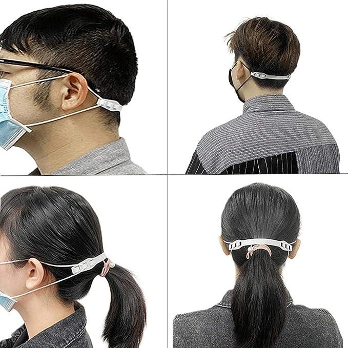 Dequate Masken Haken zuf/ällig Gesendet 3PCS Ear Wear Type Einstellbare Masken Verl/ängerungsschnalle Schwarz//Wei/ß//Pink
