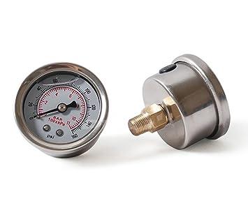 2pcs combustible líquido medidor de presión 0 – 160 PSI presión de aceite calibre indicador de
