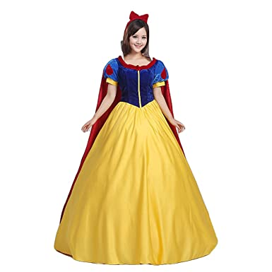 mewow Halloween Costume Adult Women s Teens Movie Princess Deluxe Cosplay  Dress Full Set (Tag S 7d0d7b867a