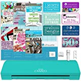 Silhouette America Cameo 3 Teal Edition with Bluetooth, Auto Adjusting Blade, Vinyl Trimmer, 12x12 Mat, 110v-220v Power Cord Warranty