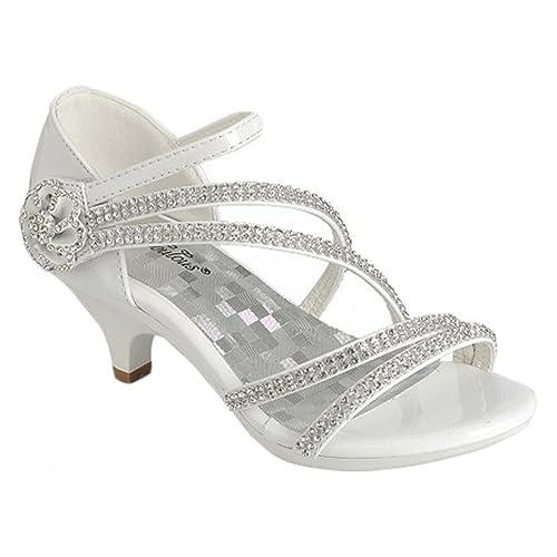 765cca98d87fc Amazon.com   Fabulous Little Girls White Silver Gold Dress Shoes ...