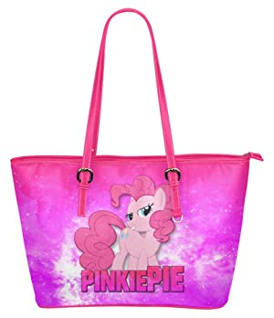 Women's Leather Multi-Functional Tote Handbag with Little Pony Pinkie Pie Image