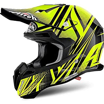 Casco Moto Cross Enduro Airoh Terminator 2.1 S Cleft Amarillo Brillante Large