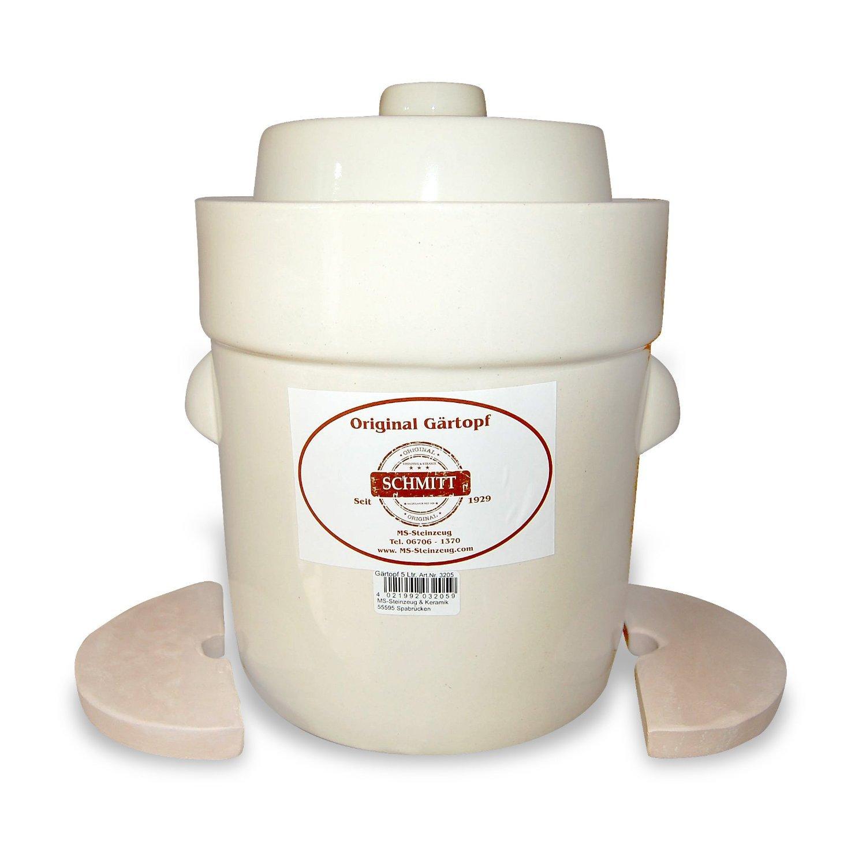 MS-Steinzeug 5L German fermenter in White