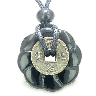 Amazoncom Lucky Coin Celtic Lotus Flower Amulet Spiritual Black