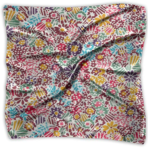 Liberty Of London Women Silk Scarves Square Satin Headscarf Neck Head Handkerchief - Liberty Silk Scarves