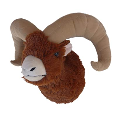"Adore 12"" Ram The Bighorn Sheep Plush Stuffed Animal Walltoy Wall Mount: Toys & Games"