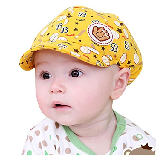 Clearance! Toddler Baby Boy Cartoon Print Beret Cap Baseball Hat Summer Sun Hat Hip Hop