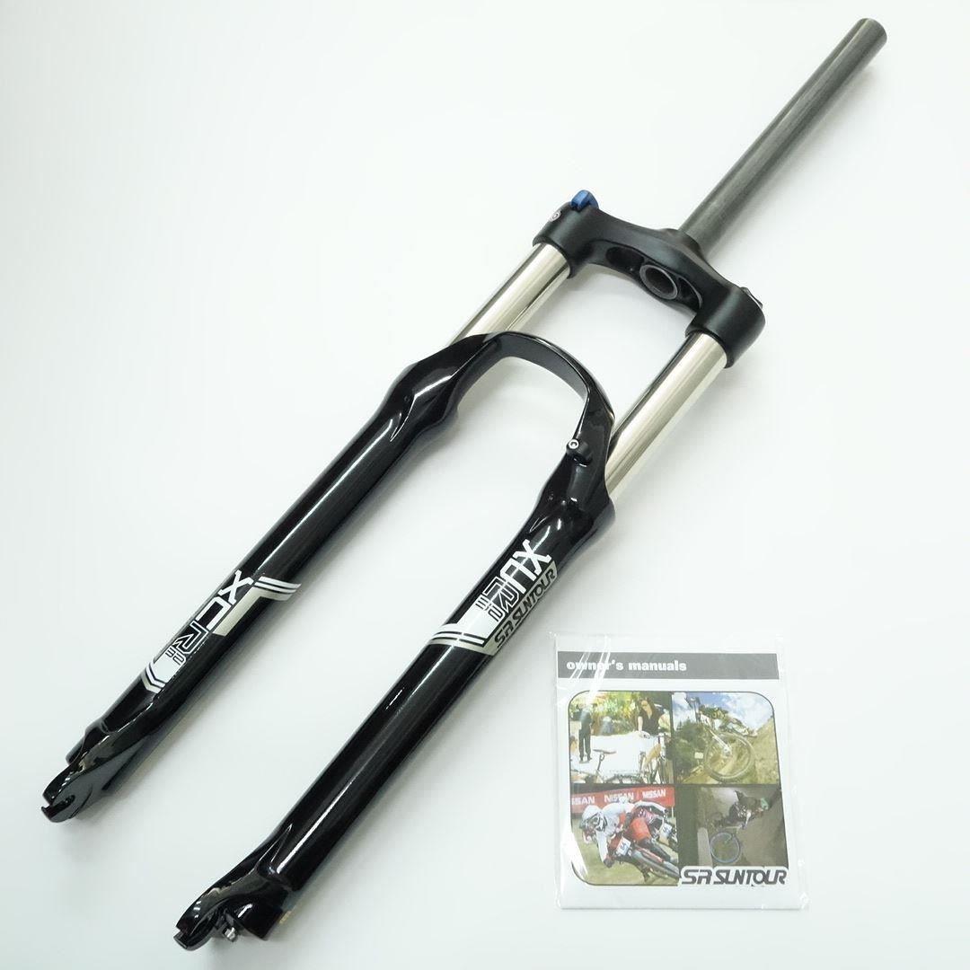 SR Suntour XCR Air Spring MTB Bike Fork 29'' Black Travel 120mm Disc Brake Straight Manual Lockout QR 9mm