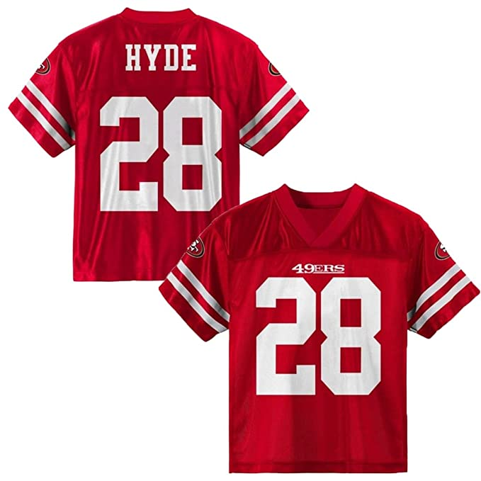 new concept 42e84 e7e3d Amazon.com: Carlos Hyde San Francisco 49ers Red Home Player ...