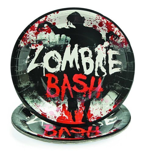 Zombie Bash Luncheon Paper Plates 8 Count