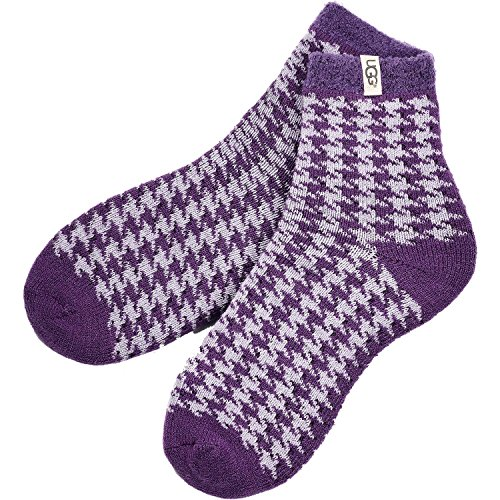 Ugg Women's Houndstooth Fleece Lined Sock (Electric Purple)