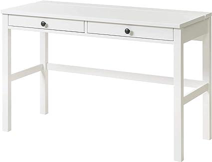 Cassettiera Per Scrivania Ikea.Ikea Hemnes Scrivania Con 2 Cassetti Mordente Bianco 120x47 Cm
