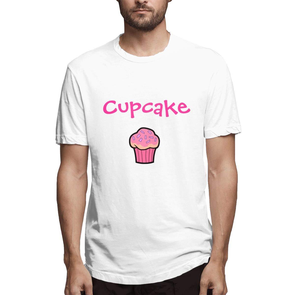 Seuriamin Sweet Cupcake Mens Basic Travel Short Sleeve T-Shirts