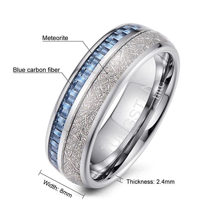 silver inspired rings deco men ring art s engagement meteorite