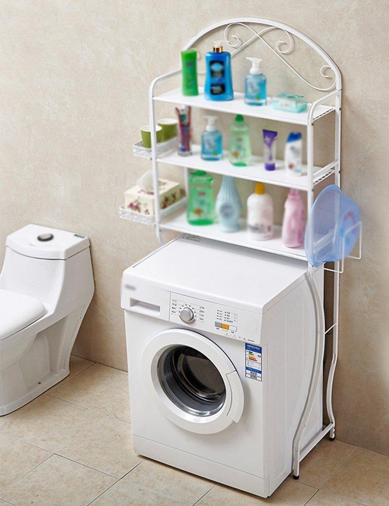 多機能洗濯機シェルフフロアトイレストレージシェルフランドリーラック B07BGWD5WM