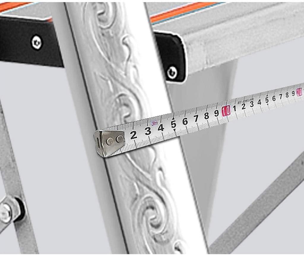 HAMIMI Scalette Pieghevoli Portatili Scale in Acciaio Inox Multifunzione per Interni ed Esterni Scala Antiscivolo per ingegneria Scala in Alluminio a Quattro gradini Passi Sgabello Scala