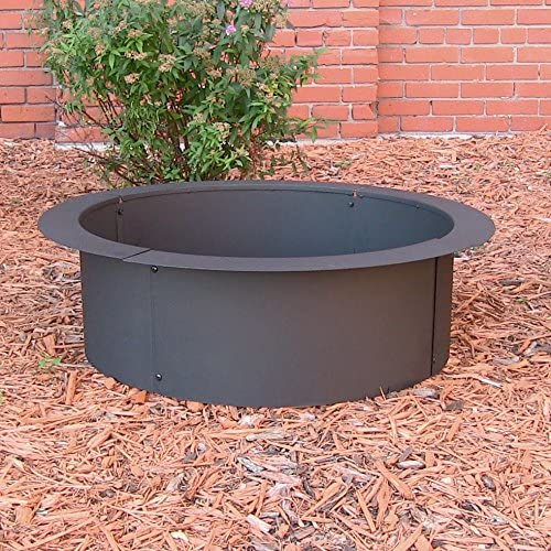 Sunnydaze Fire Pit Ring – Heavy Duty 2mm Think Steel Rim – DIY Above or In-Ground Liner – 42 Inch Outside x 36 Inch Inside – Outdoor Portable Wood Burning Fireplace – for Patio Backyard Use