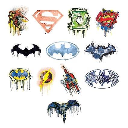 840da0d62 Amazon.com: DC Comics Logo Series 2 Temporary Tattoos (Set of 12 ...