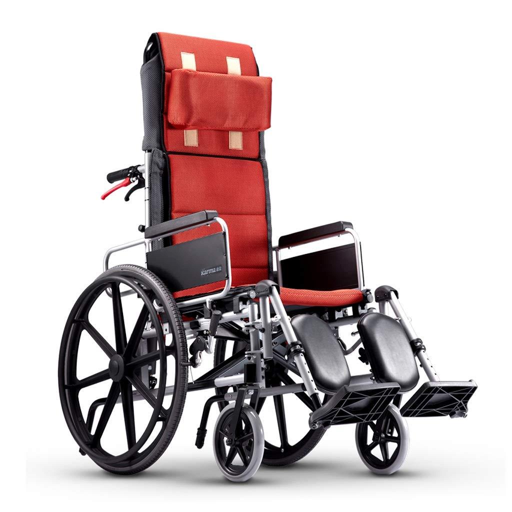 Amazon.com - YE ZI Full Reclining Wheelchair - Aluminum ...