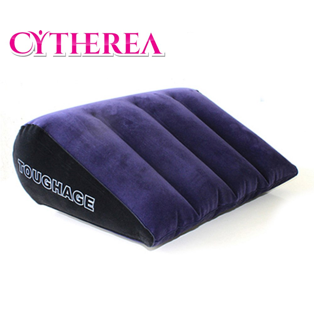 Crtherea Bed Pillow Soft Inflatable Portable Triangle Pillow For Couples