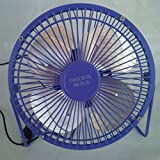 CHECKYS DEALS PURPLE 6 INCH METAL BLADE AND CAGE DESK TOP FAN USB POWERED