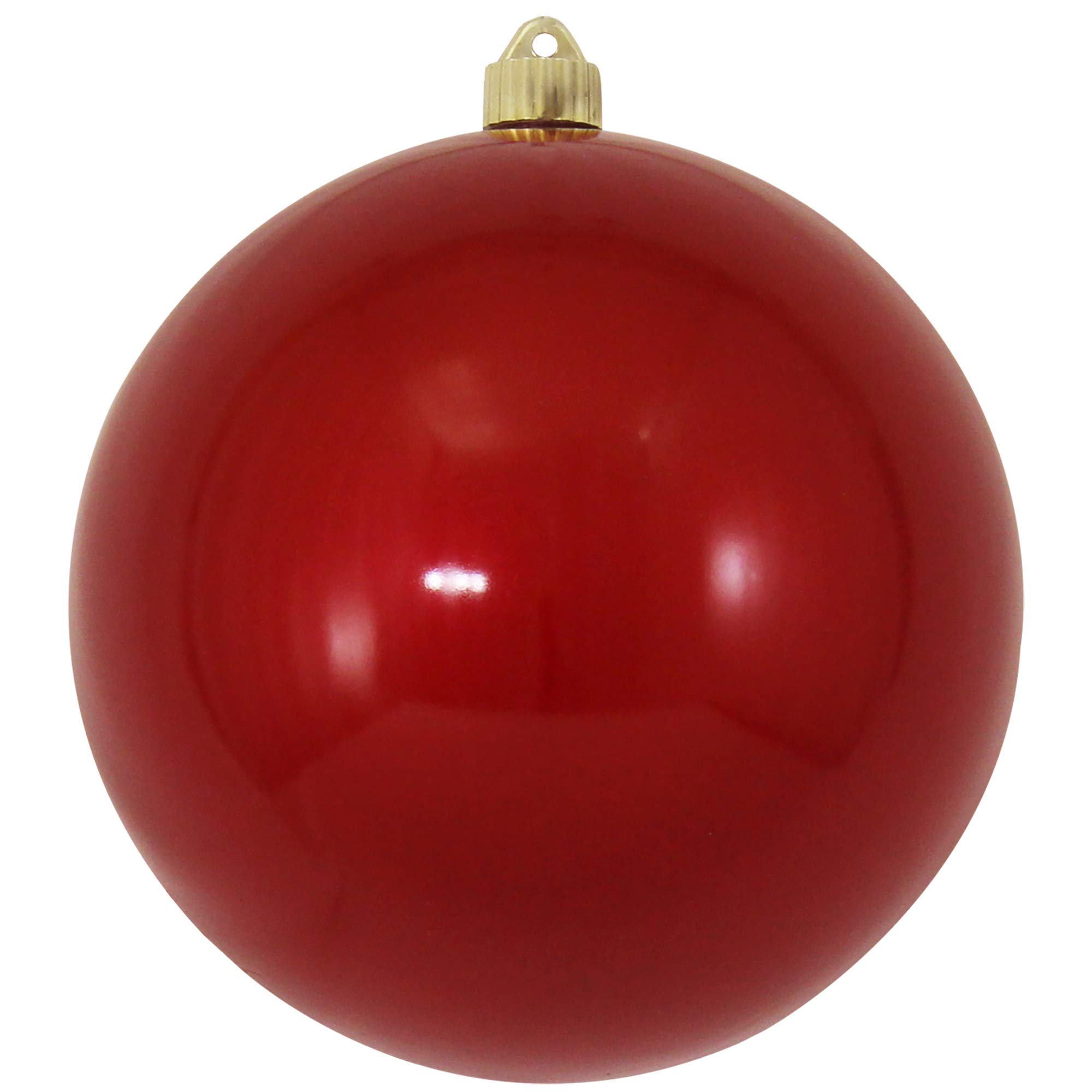 Christmas By Krebs CBK72955 Shatterproof UV-Resistant Christmas Ball Ornaments 8'' Candy Red 8'' Piece