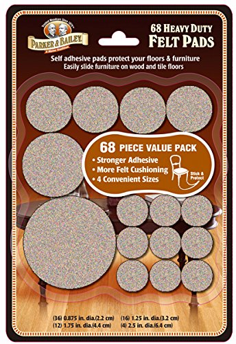 - Parker Bailey cleaning product 68 Piece Heavy Duty Felt Pads