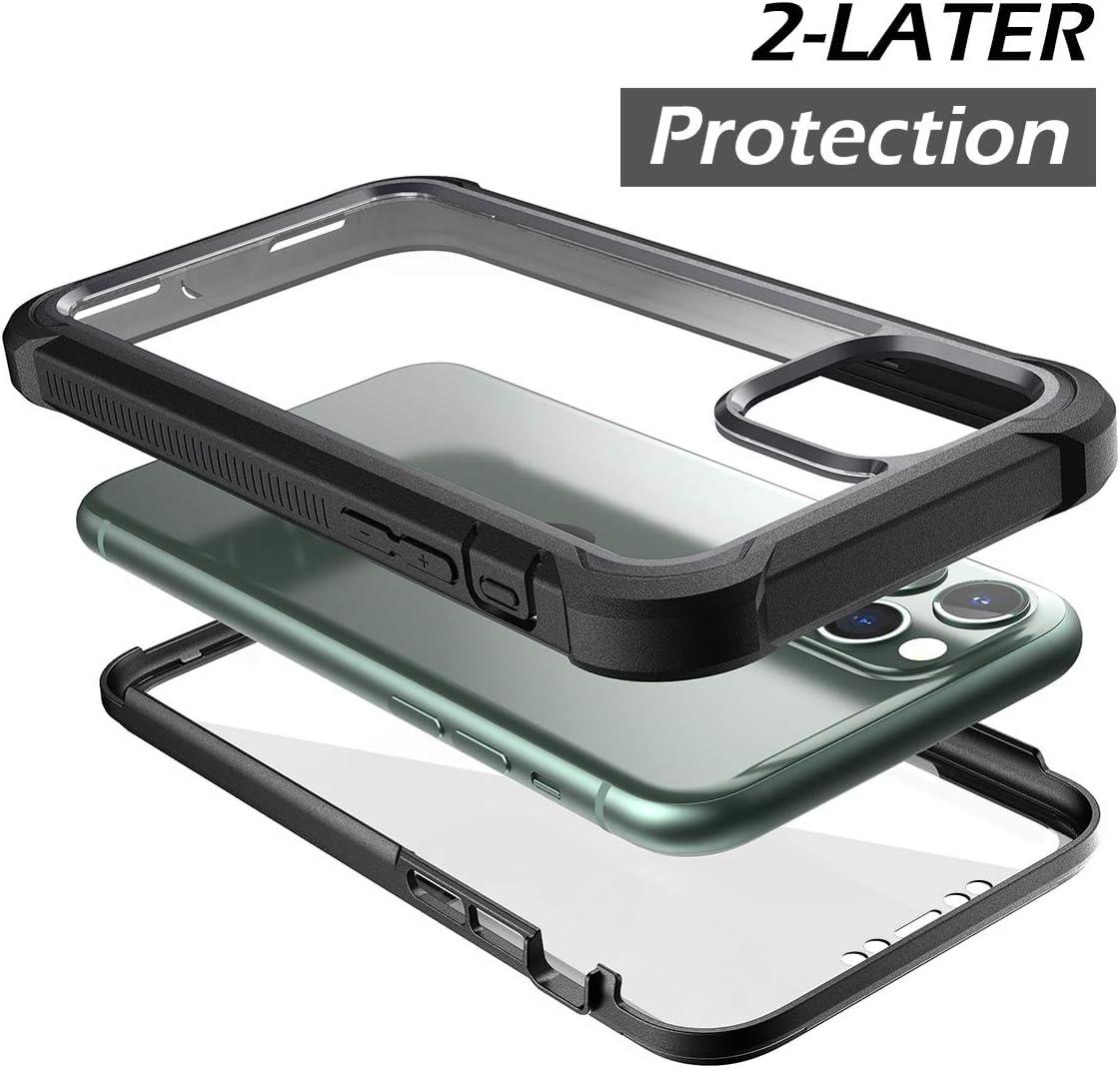Coque pour iPhone 11 protecteur d'écran intégré protection intégrale à 360 degrés coque de protection transparente résistante aux