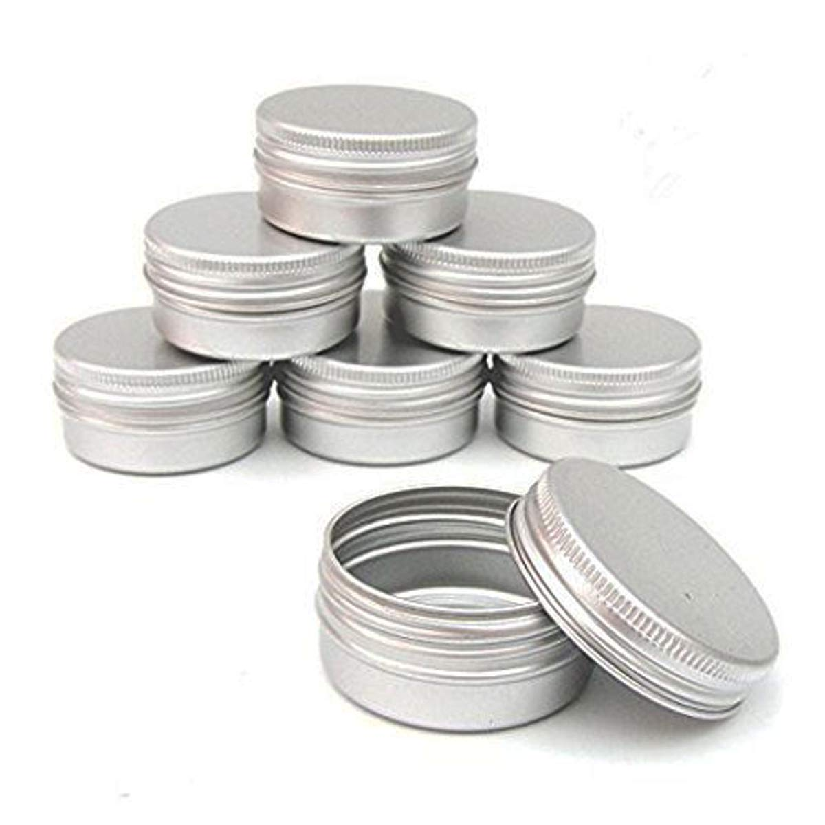 CTKcom Screw Top Round Steel Tins,1-Ounce, For Lip Balm, Crafts, Cosmetic, Candles, Storage Kit(Pack of 10)