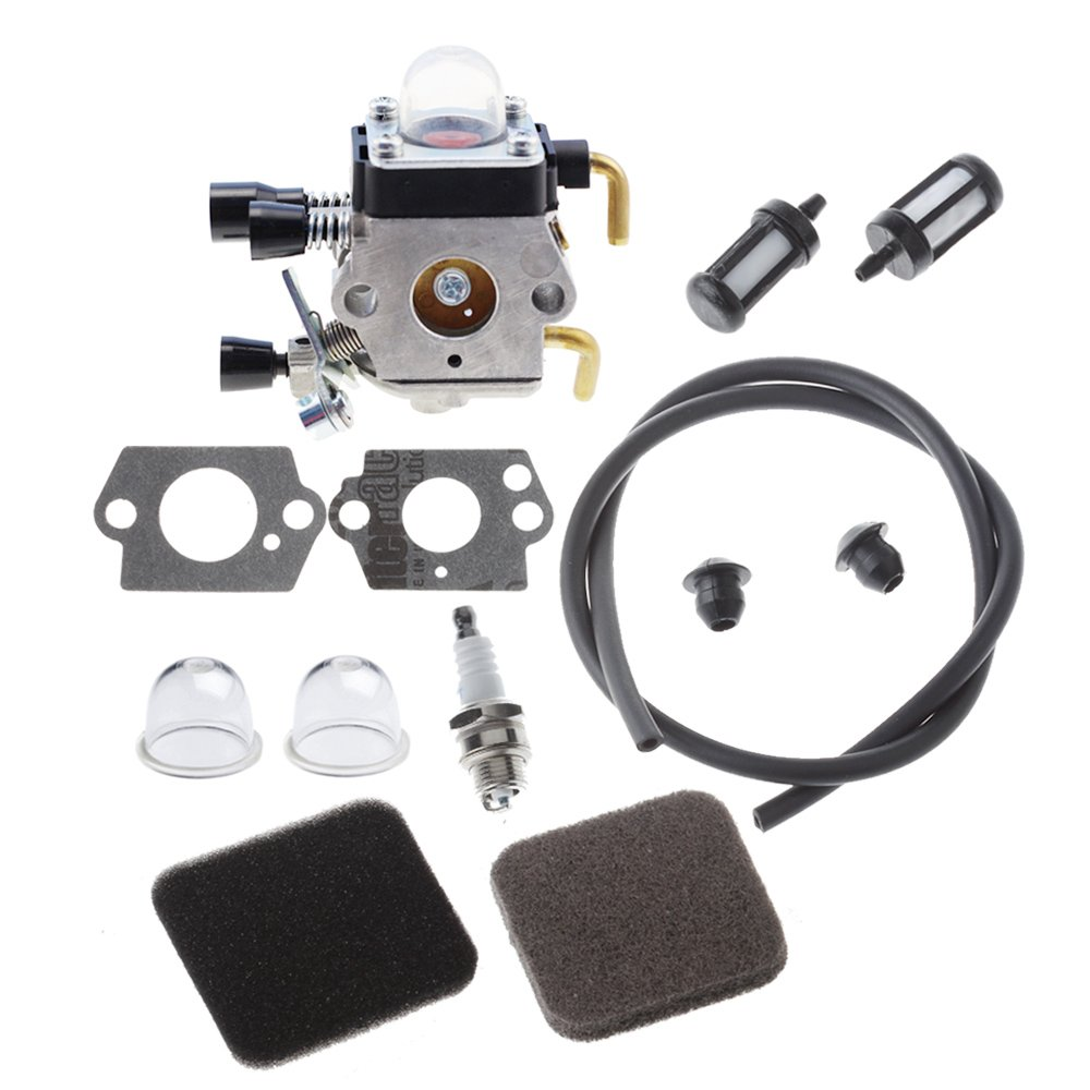 HIPA C1q-S97 Carburetor with Fuel Repower Kit Air Filter for STIHL FS75 FS80 FS80R FS85 FS85R FS85T FS85RX String Trimmer Weedeater by HIPA