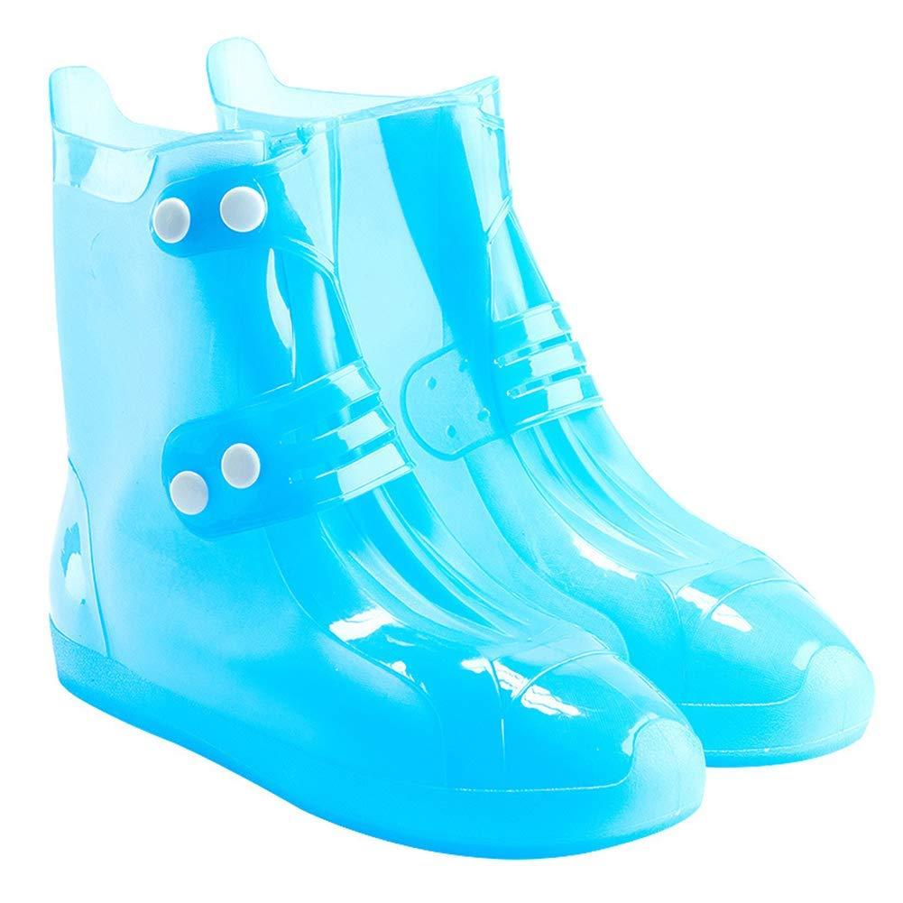 38-39White nakw88 Lluvia Cubre Zapatos Unisex Antideslizamiento Doble Botonadura Simple Duradero bajo Botas Impermeables Viaje Ajustable Espesa Reutilizable sin Costuras Cubrecalzados Exterior