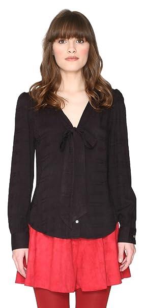 Pepaloves Penelope, Blusa para Mujer, Negro (Black), 38 (Taille fabricant